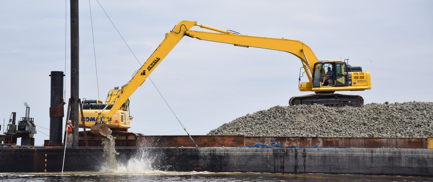 Swan island reef construction begins north carolina oyster blueprint previousnext malvernweather Image collections